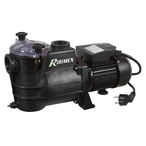 Ribimex PRSWIM750 Pompe Piscine Swim 750, 1000 W 195 l/Min, Noir, 28 x 21 x 52 cm