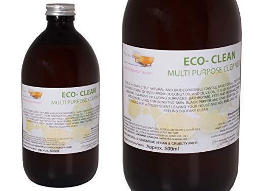 Funky Soap Eco- Limpiar Jabón Líquido con Pimienta Negra y Lima, 1 Cristal Botella para 500ml