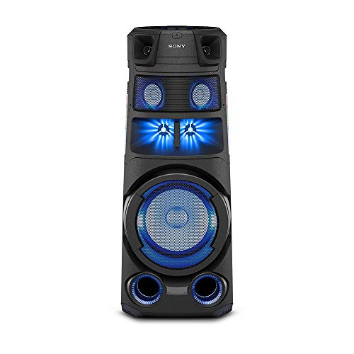 Sony MHC-V83D High Power Wireless Party Speaker with Bluetooth & USB Connectivity (Omni Directional Lights & Sound,Karaoke/Guitar Input,Touch Panel with Gesture Control,DVD/CD Playback,Taiko)