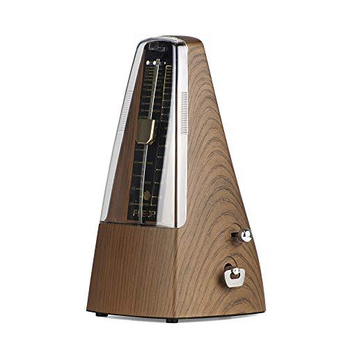 Muslady FLEOR Metrónomo Mecánico Pirámide Material ABS para Guitarra Violín Piano Bombo Herramienta de Práctica de Instrumentos Musicales para Principiantes