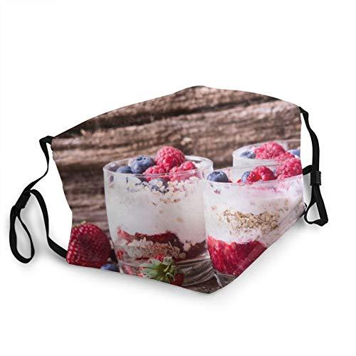 Comfortable Fashion Face Mask Yoghurt Currants Raspberries Berries Flakes Mouth Face Protect Bandana Balaclavas Dust Mask
