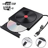 Masterizzatore CD Externo, Lettore CD DVD Esterno USB 3.0 Tipo C Porta doppia - AMIGIK Unità...
