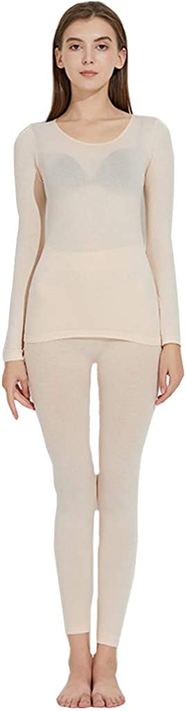 Womens Cozy Thermal Underwear Set Long Johns with Fleece Lined Ultra Soft Top & Bottom Base Layer Warm Lined Winter