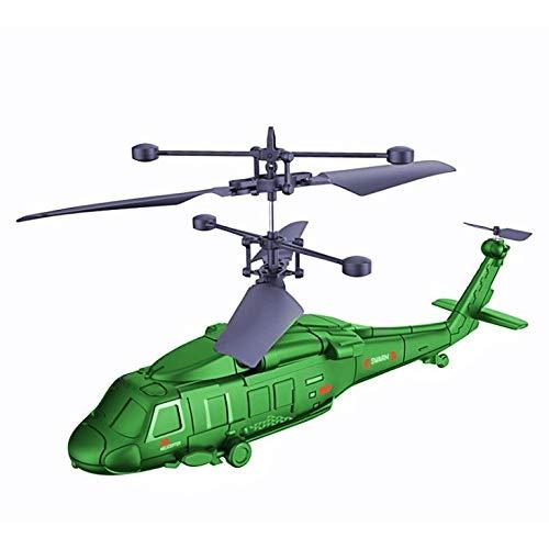 Zeyujie Aviones de control remoto 3.5 Pass Aviones militares Fighter Drone Quadcopter, a prueba de golpes 2.4GHz Control remoto de avión remoto Drone Combate militar 3.5 canales RC War Aircraft Modelo