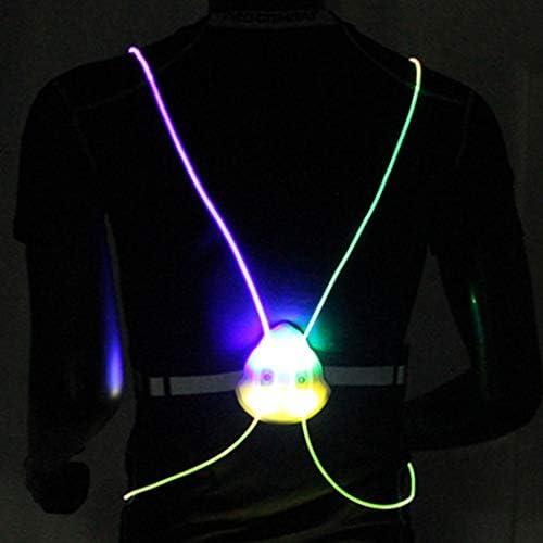 Bodiy Reflective Vest Gear Led Running Light Walking Sport Motorcycle Biking Safty Body Lights product image
