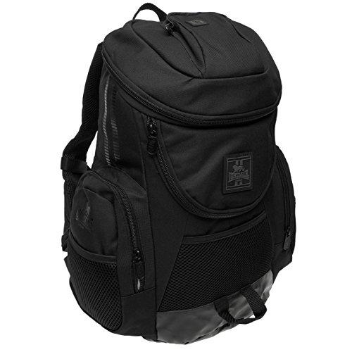 Lonsdale Niagara nero zaino borsa sportiva borsa da ginnastica Kitbag, Black