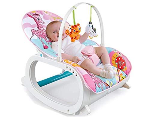 ZWQ kids Bascule, Chaise et siège à Bascule pour bébé, avec Vibrations, chansons et Sons apaisants, Convenant aux bébés de Moins de 3 Ans,B
