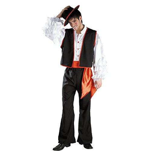 Disfraz de Flamenco. Talla única de Hombre.