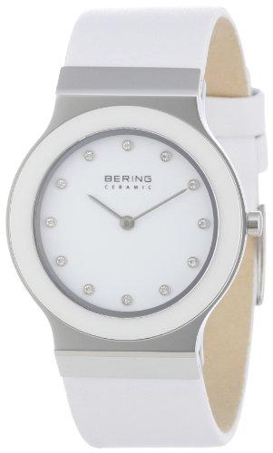 BERING Damen-Armbanduhr Analog Quarz Leder 32834-654