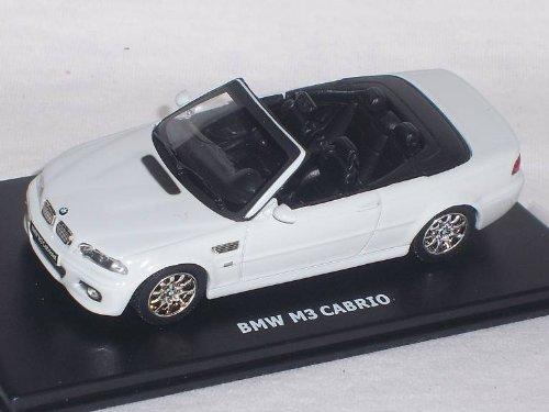 B-M-W M3 M 3 3er Er Weiss White Cabrio E46 E 46 1/43 Maxi Car Modell Auto Modellauto