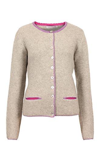 made in heaven Damen, German Janker in Light Grey-Lila-Pink 38, Grau