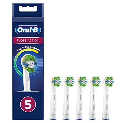 Oral-B Tiefenreinigung Aufsteckbürsten mit CleanMaximiser-Borsten für tiefe Interdental-Reinigung, 5Stück