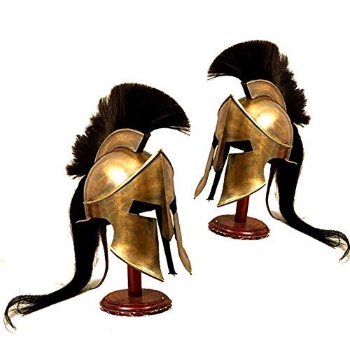 Nautical Replica Hub Mittelalterlicher Eisenritter Spartanischer Helm Braas Antik Römischer Krieger Griechisch 300 Kostüm