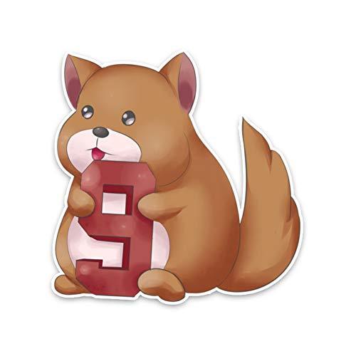 CTMNB autosticker 14 cm * 14,2 cm schattige dierenhond met de PVC-autosticker-aftrekplaatje nr. 9