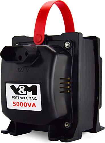 Transformador V&M 5000VA Tripolar Bivolt 110/220 e 220/110 5000 VA Tripolar