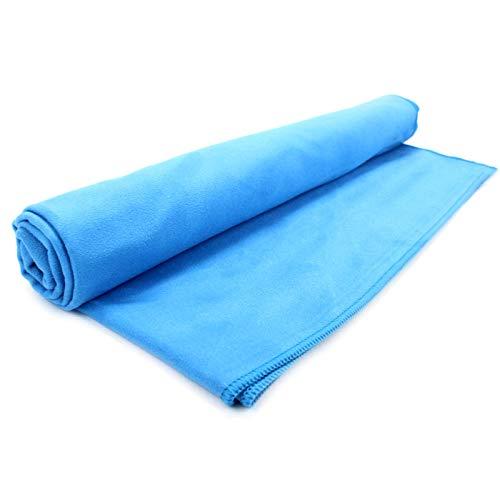 Toalla de microfibra de secado rapido   Viajes, Playa y Deportes   Camping y senderismo toalla   Azul Pequeño (50x30cm)
