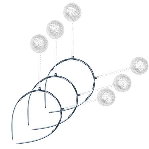 Holibanna antena marciana diadema topes bola de espuma primavera fiesta extraterrestre tocado accesorios de foto