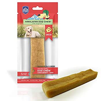 Himalayan Cheese Dog Chew | Long Lasting Stain Free Protein Rich Low Odor | 100% Natural Healthy & Safe | No Lactose Gluten Or Grains | LARGE | for Dogs 55 Lbs & Smaller