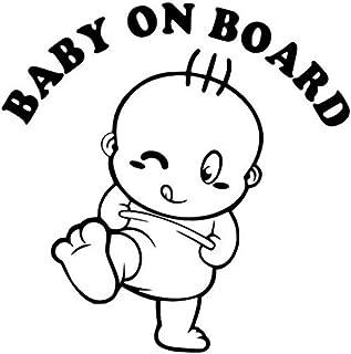 Baby On Board Black Decal Vinyl Sticker Cars Trucks Vans Walls Laptop  Black  5.5 x 5.5 in LLI554