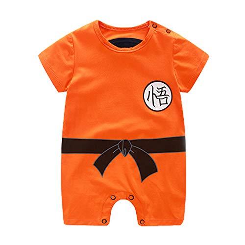 Sxkayxr - Pagliaccetto per neonato, ispirato a Goku, per neonato, con motivo cartoni animati Orange2 66 cm/3-6 mesi