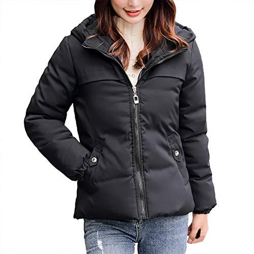 SHANGYI Damesjas Damesmantel Dikke winter warme losse damesjas lange mouwen korte jas jas