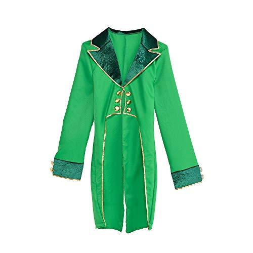 Amscan Leprechaun Costume Tailcoat, One Size, Green