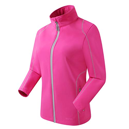 Eono Essentials Damen Leichte Softshell Jacke, Rosa, Medium