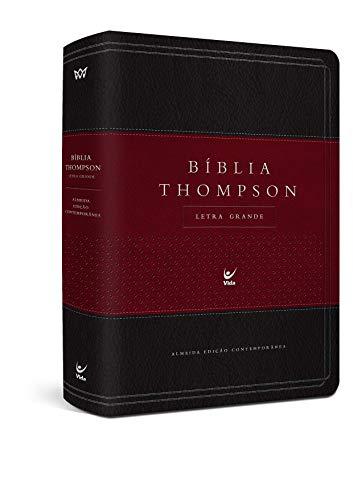 Biblia Thompson Aec Letra Grande - Cp Vinho e Preta