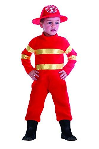 Fiori Paolo- Baby Pompiere Costume Bambino, Rosso, 3-4 anni, 61342.3-4