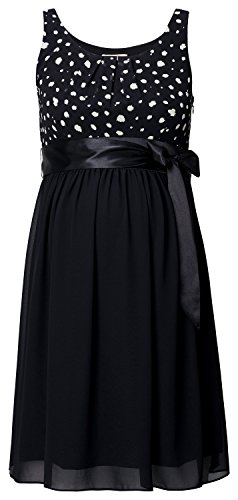 Noppies Damen Dress Woven sl Maya Umstandskleid, Mehrfarbig (Black C270), 34 (Herstellergröße: XS)