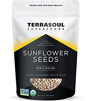 Terrasoul Superfoods Organic Hulled Sunflower Seeds 2 Pounds