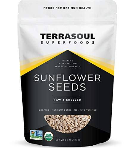 Terrasoul Superfoods Organic Hulled Sunflower Seeds, 2 Pounds