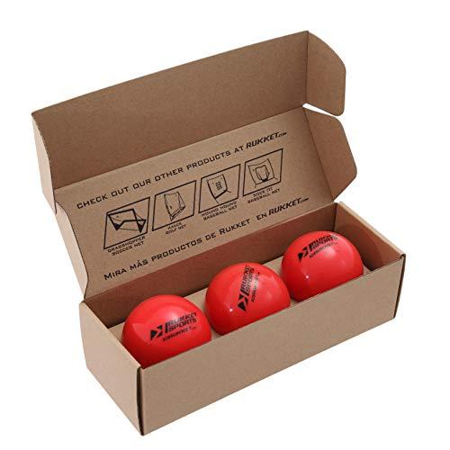 "Rukket 3pk Weighted Baseballs / Softballs | Heavy Balls for Hitting, Batting, Pitching Practice (1lb. /16oz. 3"" diameter)"