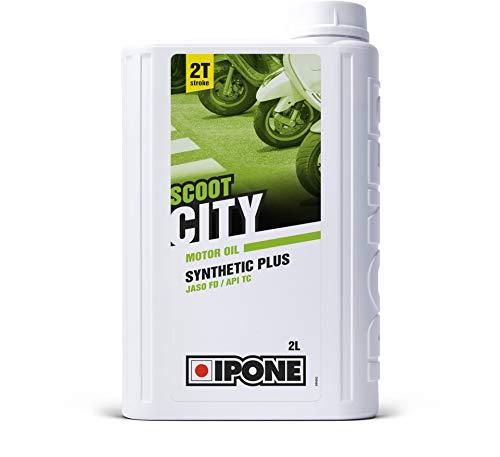 Ipone 800123 City-Huile Scooter 2 Temps Synthetic Plus-Lubrifiant Semi-Synthétique Haute Qualité-Formulation Anti-Fumée Idéale pour Utilisation Urbaine-Bidon 2 litres, 2L