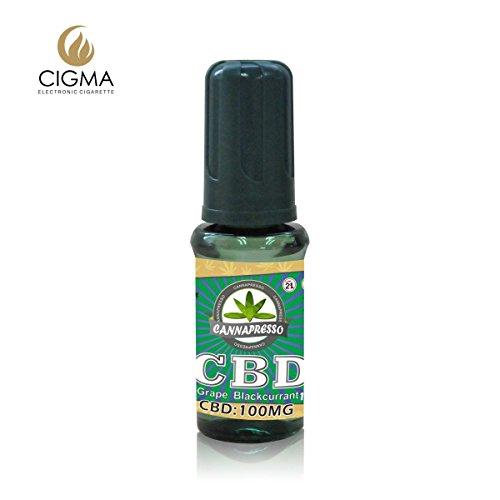 Cannapresso CBD 100mg CBD Cannabidiol CBD Liquid E-Liquid (Grabe Blackcurrant CBD (schwarze Johannisbeere))