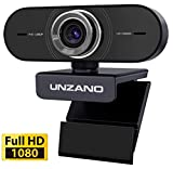 PC Webcam with Microphone for Desktop - Pro HD 1080p Web Cameras for Computer Laptop Mac Wide Angle USB Webcam for Video Calling, Gaming, Recording, Conferencing, Plug & Play, 360 Degree Rotatabl