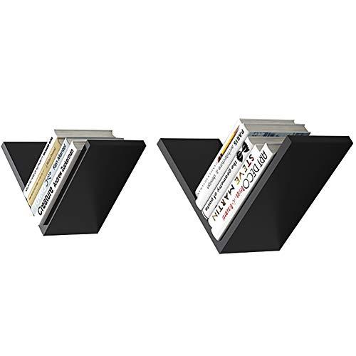 ALF Wandregale Wandschmuck Anhänger Rack schwimmende Regale (Color : Black)