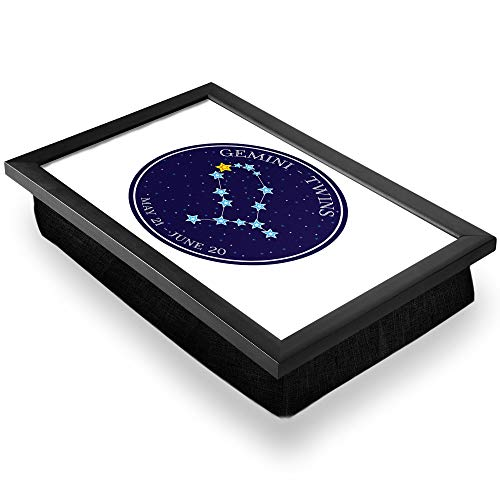 Bandeja de regazo de lujo, cómoda, funcional portátil, puf – Gemini Constellation Stars Horóscopo #7474