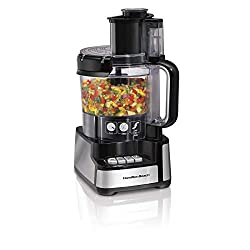 top 10 bosch food processor Hamilton Beach 12 Cup Stack  Snap Stand Mixer and Vegetable Chopper, Black (70725A)
