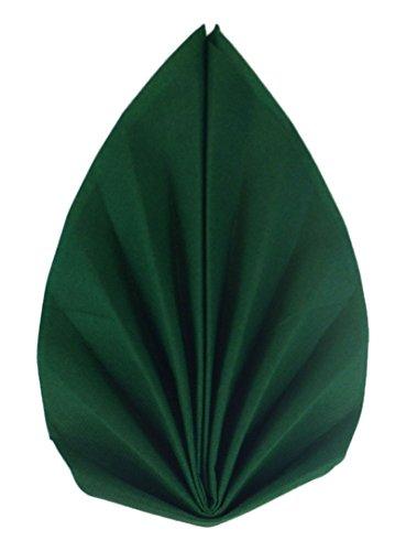 12x Elegante Palmwedel hochwertige Servietten Fertigservietten S-W (S-W-013-Dunkelgruen)