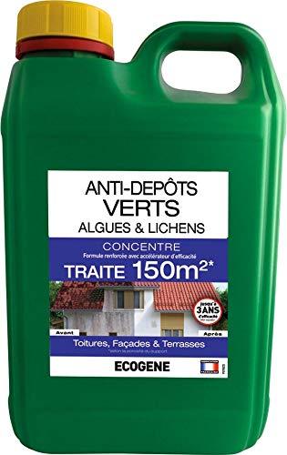 ECOGENE - Anti-depots verts algues et lichens - traite 150m²- 2 L