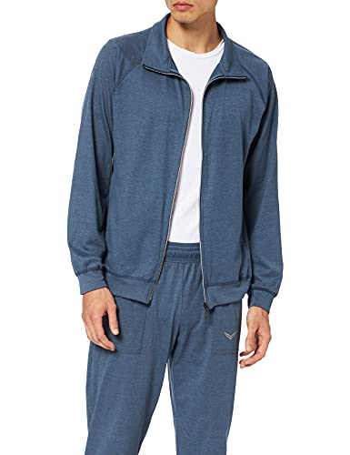 Trigema 6371058 Tuta, Blu (Jeans-Melange 643), XXXL Uomo