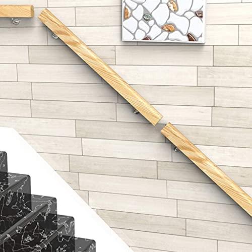 Azyq Pasamanos -Kit Completo. Riel de Escalera de Madera Antideslizante, Soporte de Barandilla de Barandilla de Montaje en Pared, Adecuado para Barras, Lofts, Escaleras, Escalones de Garaje, Longitud