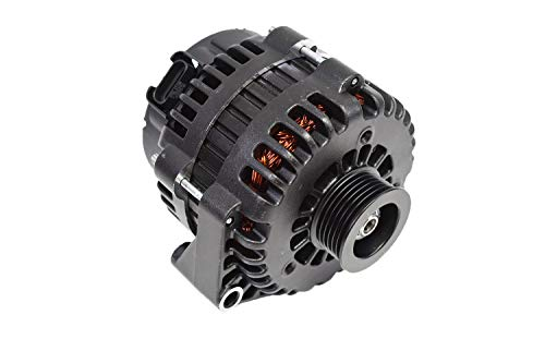A-Team Performance GM AD244 Style High Output 220 Amp Alternator Black Compatible with BBC SBC Chevy GM Diesel