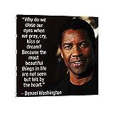 Denzel Washington Zitate Poster Dekorative Malerei Leinwand