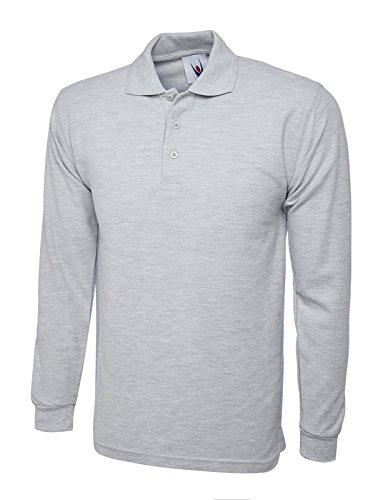 Monogram - T-Shirt à manches longues - - Col polo - Manches longues Homme - Gris - Gris - Taille XXXL