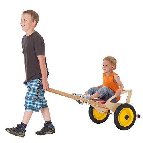 pedalo Sulki aus Holz - Kinder-Kutsche mit Vollgummi-Reifen