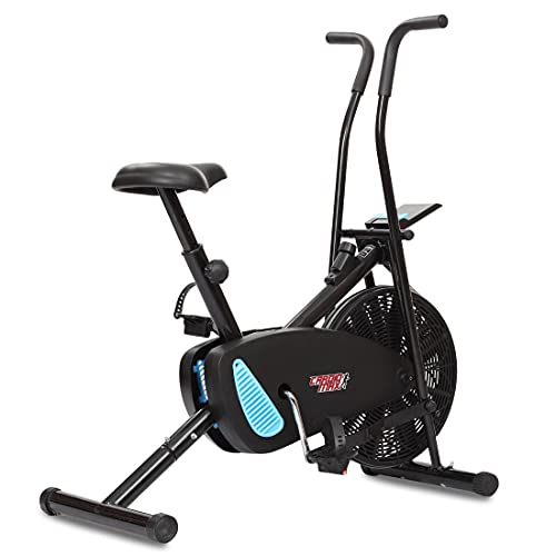 Cardio Max JSB HF175 Fitness Bike for Home Gym Orbitrac Cycle Multifunctional Exercise (Black Blue)