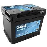 12V 60Ah 640CCA Exide EL600stop Start Efb batteria auto–3anni di garanzia