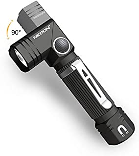 Flashlight, NICRON N7 600 Lumens Tactical Flashlight, 90 Degree Mini Flashlight Ip65 Waterproof Led Flashlight 4 Modes- Best High Lumens are for Camping, Outdoor, Hiking (Not Including Batteries)Gift